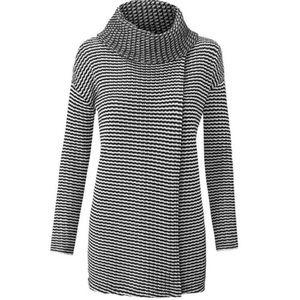 CABI | Fergie Striped Turtleneck Sweater XS Fits S